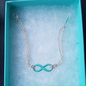 Tiffany & Co Blue Enamel Infinity Bracelet